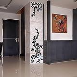 erthome Runder / Kreis Ring Spiegel Wandaufkleber Aufkleber Zimmer Haus Dekoration (Schwarz, 30 x 30cm + 86 x 30cm)