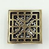 Europäische Antik Kupfer Deodorant Bodenablauf Badeinsatz Boden Große Verdrängung Drain Mit Abnehmbaren Filter Küche, Balkon, Garage, Anti-Clogging