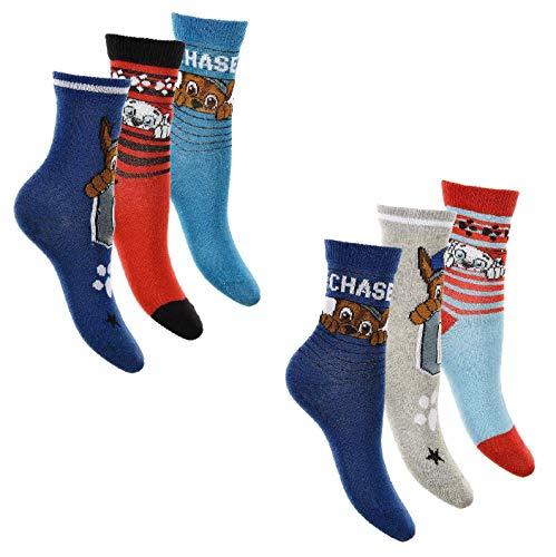 6er Pack Jungen Socken Super Mario Paw Patrol Sonic (23 - 26, Paw Patrol)