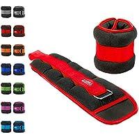 Essentials - Pesas lastradas para tobillos y muñecas con tira ajustable, 0,