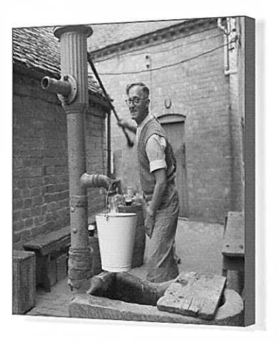 Canvas Print of Hand pump at the Fruiterer s Arms, Hartlebury