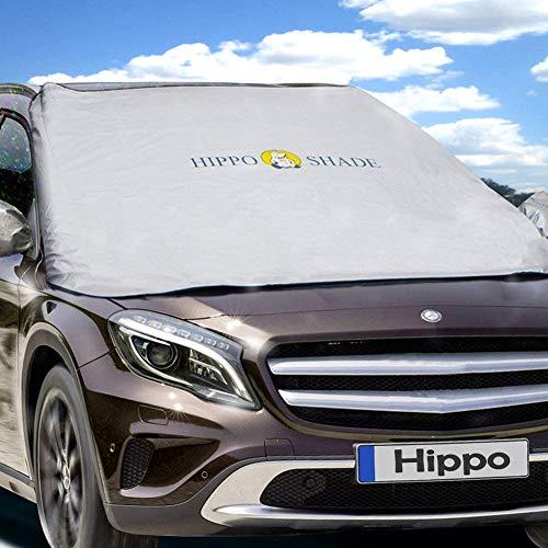 Hippo Sonnenschutz Auto, Sonnenblende Auto Frontscheibe für UV Schutz, geeignet für Sonnen oder Schnee