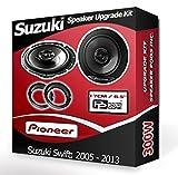 Suzuki Swift Front Door Speakers Pioneer car speakers + adapter rings pods 240W