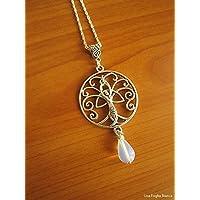 Collana dea madre, nodo celtico, albero della vita, celtico, pagano, handmade