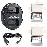Newmowa NP-FW50 Batería de repuesto (2-Pack) y Kit de Cargador Doble para Micro USB portátil para Sony FW50 and Sony Alpha a3000, Alpha a5000, Alpha a6000,a6300,a6500,Alpha 7, a7, Alpha 7R, a7R, Alpha 7S, a7S, NEX-3, NEX-3N, NEX-5, NEX-5N, NEX-5R, NEX-5T, NEX-6, NEX-7, NEX-C3, NEX-F3, SLT-A33, SLT-A35, SLT-A37, SLT-A55V, Cyber-shot DSC-RX10
