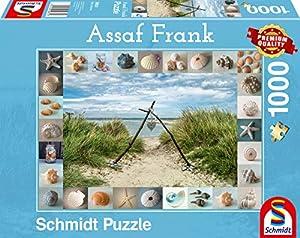 Schmidt Spiele 59631 - Puzzle (1000 Piezas), diseño de Assaf Frank, Strandgut