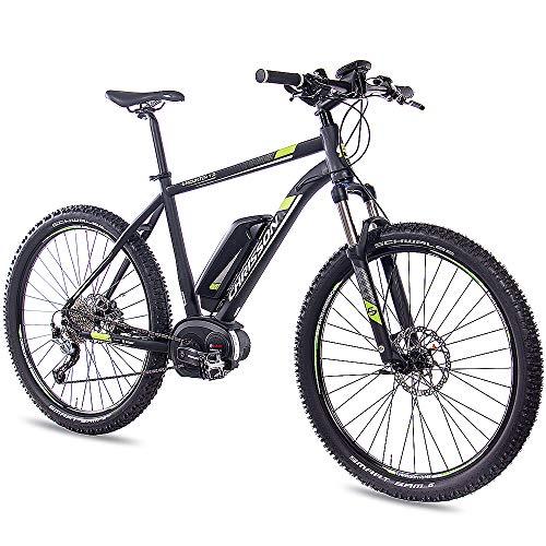 CHRISSON 27,5 Zoll E-Bike Mountainbike - E-Mounter 1.0 schwarz 52cm - Elektrofahrrad, Pedelec für Damen und Herren mit Performance Line Motor 250W, 63Nm - Intuvia Computer und 4 Fahrmodi