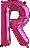 40cm Aire Llena letra R globo magenta (deflactado)