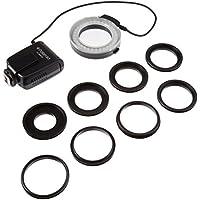 Polaroid Macro anillo LED de Flash y luz para la Nikon D5300, D5000, D3000, D3200, D5100, D5200, D3100, D7000, D7100, D4, D800, D800E, D600, D610, D40, D40x, D50, D60, D70, D80, D90, D100, D200, D300, D3, D3S, D700, Digital SLR Cámaras (encaja 52,55,58,62,67,72,77mm lentes)