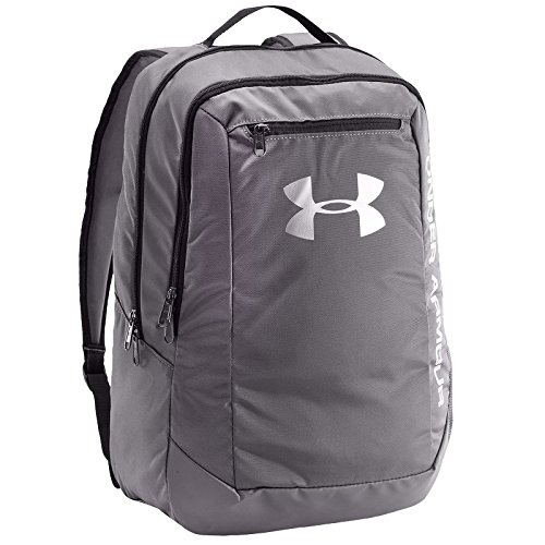 Under Armour UA Hustle Backpack LDWR Mochila, Hombre, Gris (040), One Size