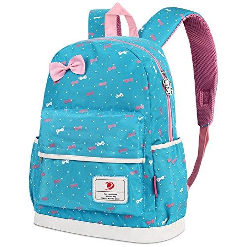 Imagen de vbiger  infantil para niña, con bolsa para almuerzo y bolsito para el móvil, azul claro alternativa