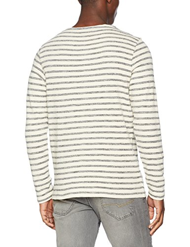 JACK & JONES VINTAGE Herren Sweatshirt Jjvellis Sweat Crew Neck Mehrfarbig (Fog Detail:Reg Fit)
