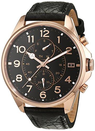 Orologio da uomo al quarzo Tommy Hilfiger 1791273, con visualizzazione multi-quadrante e cinturino in pelle.