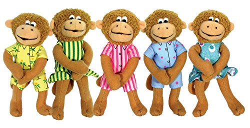 Puppet-5 Little Monkeys Finger por Eileen Christelow
