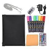 LED Schreibtafel Licht Tafel Werbetafel Writing Board Mit Textmarker (30x40cm)