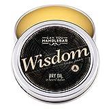 CanYouHandlebar - Wisdom - Aroma di legno e agrumi - Balsamo per barba da uomo | Balsamo per barba di olio a secco | 145 gr | Barattolo in acciaio inox
