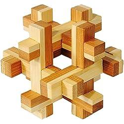 Fridolin 17458 - Rompecabezas de bambú (nivel 3: dilema)