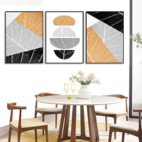 Minimalistische Bunte geometrische Leinwand Malerei gelb grau abstrakte Wandbilder Kunst Moderne Trendige Poster Drucke Wand Dekor kein Rahmen