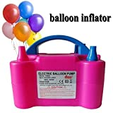 HOME BUY New Two Nozzles High Power Electric Balloon Inflator Air Pump