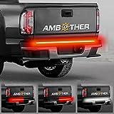 Heckleuchte Ambother 124/122 cmLichtband Seite 72 LEDs Neonband Epoxidharz IP65Multifunktionslicht Blinker Lampe Bremssystem Signalstreifen für Anhänger, Wohnwagen, SUV, Pickup-Truck und LKW