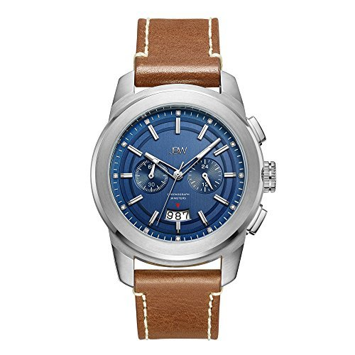 JBW Dress Watch for Men, Leather Band, Analog, J6352D