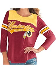 "Washington Redskins Women's G-III NFL ""Touchdown"" Dual Blend 3/4 Sleeve T-shirt Chemise"