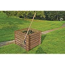 Compostador de madera de Gartenwelt Riegelsberger, 90 x 90 x 70 cm de pino marrón