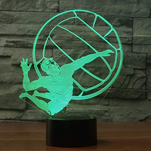 wangZJ 3d Sichttäuschungslampe / 7 Farben Fernbedienung Touch/Optische Täuschung Lichter/Weihnachten Kinder Geschenk/Athlet -