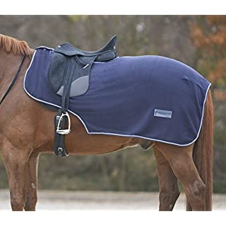 Amesbichler Fleece Exercise Sheet Horse Quarter Kidney Cover with Saddle Cut-Out