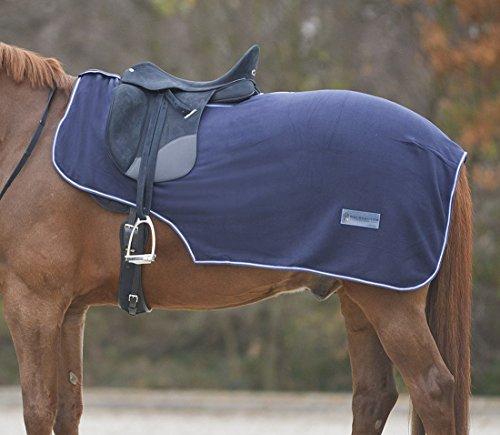 Pferde Ausreitdecke Nierendecke aus Fleece mit Sattelausschnitt