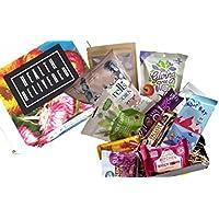 SnackBaron Premium Original Snack-Box | 10 Snacks, vegan, paleo, high Protein & kalorienarme natürliche Superfood Snacks| GeschenkBox| Geschenkkorb alternative | Riegel, Chips, Nüssen & Mehr.
