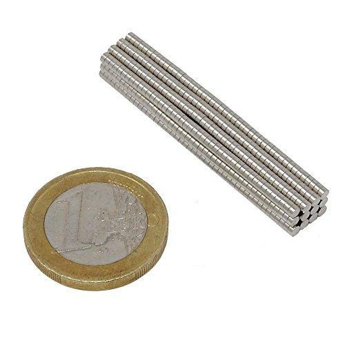 SBS Neodym Magnet ø 2x1 mm 20 Stück Magnete Extrem Stark Supermagnete