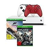 Xbox One S 500GB Konsole - Forza Horizon 3 Bundle + Gears of War 4 + Xbox Wireless Controller in Rot