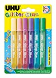 UHU Glitter Glue Shiny - assortiti - 10 ml - D1552/D1551 (conf.6)