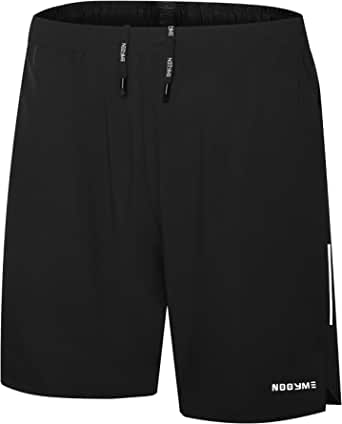 NOOYME Mens Running Shorts 2 in 1 Shorts Men Quick Dry Mens Sports Shorts Breathable Gym Shorts Mens with Towel Loop