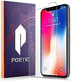 Pellicola Protettiva Schermo per iPhone X, poetic [copertura completa] [HD Clear] [Custodia amichevole] [Anti-impronta digitale] Pellicola salvaschermo in vetro temperato premium per bordo per Apple iPhone X (chiaro)
