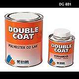 De IJssel Double Coat 2K Bootslack - Farbe schwarz / DC 801 - 1 kg Set - (2K Lack, Yachtlack, Decklack)