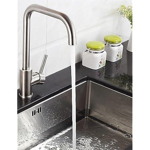XMQC*Montato sulla testata falciante singola maniglia un foro in Acciaio Inox rubinetto di cucina K40CF19SS