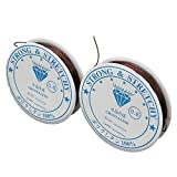 SENZEAL Diamètre 2x0.6mm Ligne élastique en Nylon café Fil de Nylon pour Le Tissage de Perle de Bijoux 15M