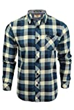 Tokyo Laundry Mens Printed Flannel Checked Shirt Washed Veracruz' (Dusty Blue) L