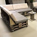 Palettenmöbel Lounge-Sofa Comfy-Cozy aus ippc zertifizierten Europaletten, jedes Teil ist Einzigartig und Wird in Deutschland in Handarbeit Gefertigt