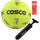 DealBindaas PU Football with Hand Pump and Needle, Size 3, (Assorted)