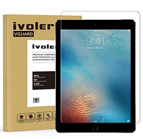 iVoler Panzerglas Schutzfolie für iPad 9.7 Zoll 2018 Version/iPad 9.7 Zoll 2017 / iPad Pro 9.7 Zoll 2016 / iPad Air/iPad Air 2 (iPad 5/6), 9H Härte, Anti- Kratzer, Bläschenfrei (Ersatz-bildschirm Ipad 2 Air)
