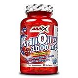AMIX Krill Oil 1000 - 60 caps de ácidos grasos esenciales Omega 3 y Omega 6