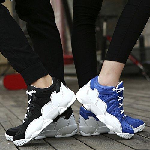 Rioneo Basketball Chaussures Sportive Gymnastique Sneaker Hommes Femmes Noir Bleu Rouge 36-44 Noir