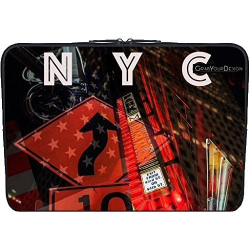 AC Distrib SAS Nyc by Texier 1433331455_35_211-10 PC-Custodia in Neoprene per Laptop, colore: nero