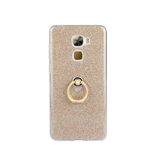 Luxus Bling Sparkle Style Case, Soft TPU [Silikon] Flexible Glitter Rückentasche [Anti Scratch] mit Fingerring Stand für LeTV LE PRO 3 ( Color : Black ) Gold