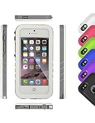 ieGeek resistente al agua carcasa para iPhone 5/5S/Se y # xFF0C; apoyo Touch ID Full protección sellada IP68A prueba de golpes nieve lluvia suciedad a prueba de polvo Ultra delgado cuerpo con botón mute para Apple Iphone 5y 5S se 4Inch, blanco