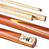Power Glide Classic Target 2-Piece Centre Split Cue - Light Brown/Yellow, 57-Inch
