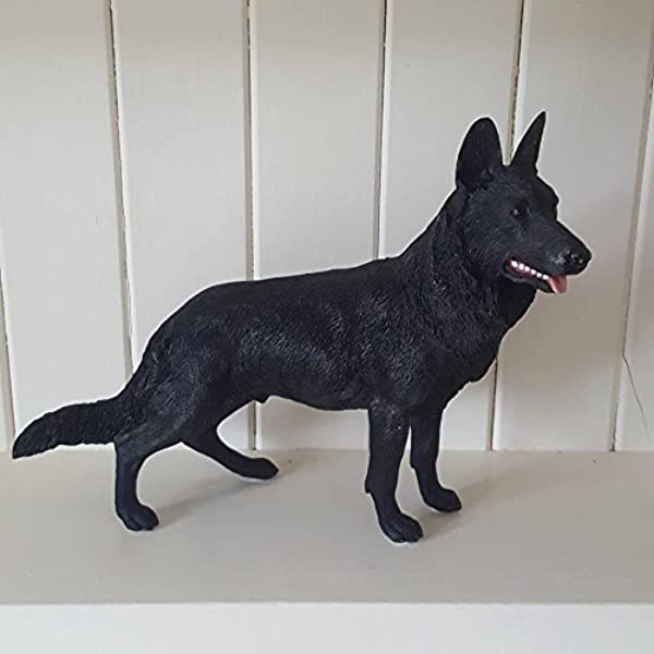 German Shepherd Bronze Statue Alsatian Dogs Gifts Sculpture Figure Ornament